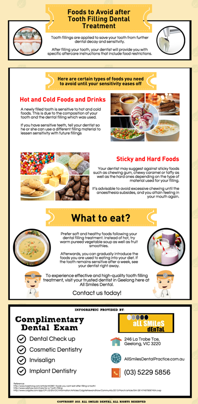 tooth filling foods dental avoid treatment